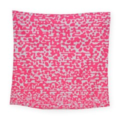 Template Deep Fluorescent Pink Square Tapestry (large)
