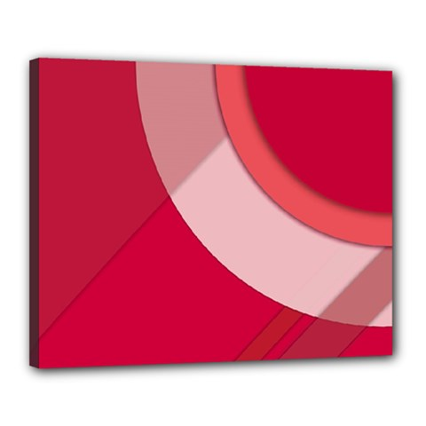 Red Material Design Canvas 20  X 16