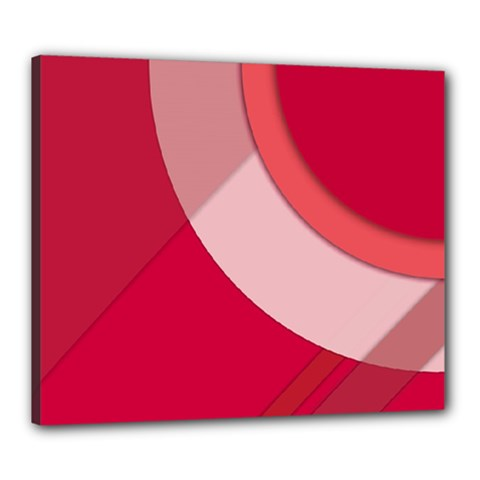 Red Material Design Canvas 24  X 20