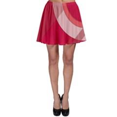 Red Material Design Skater Skirt