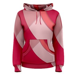 Red Material Design Women s Pullover Hoodie