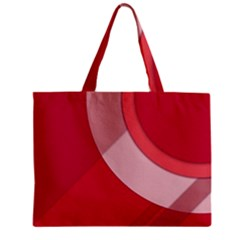 Red Material Design Zipper Mini Tote Bag