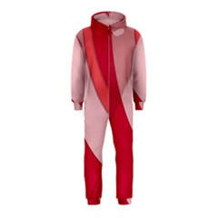 Red Material Design Hooded Jumpsuit (kids)