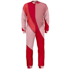 Red Material Design Onepiece Jumpsuit (men)