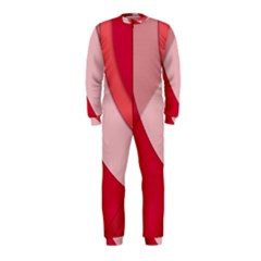 Red Material Design OnePiece Jumpsuit (Kids)
