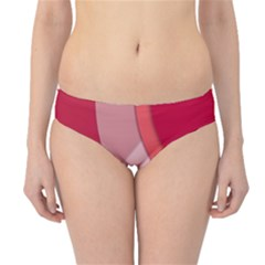 Red Material Design Hipster Bikini Bottoms