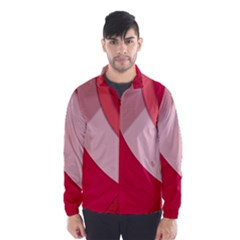 Red Material Design Wind Breaker (men)