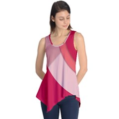 Red Material Design Sleeveless Tunic