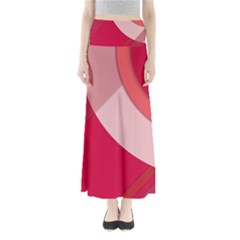 Red Material Design Maxi Skirts