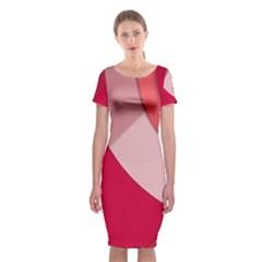 Red Material Design Classic Short Sleeve Midi Dress