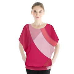 Red Material Design Blouse