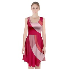 Red Material Design Racerback Midi Dress
