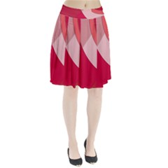 Red Material Design Pleated Skirt