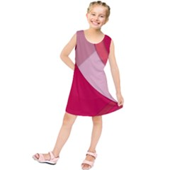 Red Material Design Kids  Tunic Dress
