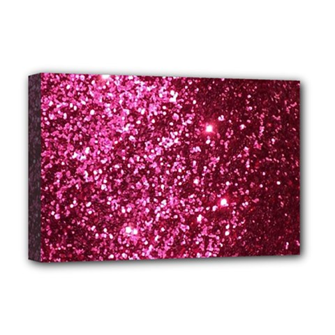 Pink Glitter Deluxe Canvas 18  X 12