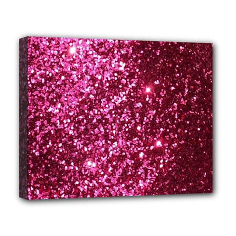 Pink Glitter Deluxe Canvas 20  X 16