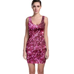 Pink Glitter Sleeveless Bodycon Dress