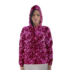 Pink Glitter Hooded Wind Breaker (women)