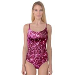 Pink Glitter Camisole Leotard