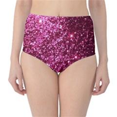 Pink Glitter High Waist Bikini Bottoms
