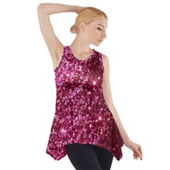 Pink Glitter Side Drop Tank Tunic