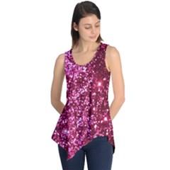 Pink Glitter Sleeveless Tunic