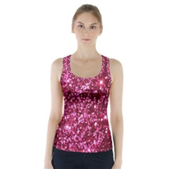 Pink Glitter Racer Back Sports Top