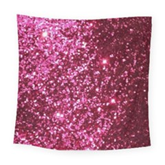 Pink Glitter Square Tapestry (large)