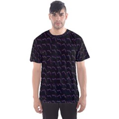 Smooth Color Pattern Men s Sport Mesh Tee