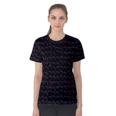 Smooth Color Pattern Women s Cotton Tee