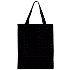 Smooth Color Pattern Zipper Classic Tote Bag