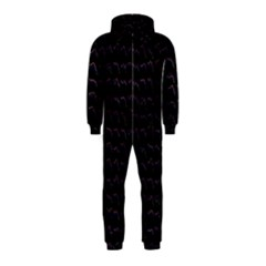 Smooth Color Pattern Hooded Jumpsuit (Kids)