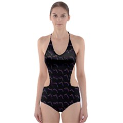 Smooth Color Pattern Cut Out One Piece Swimsuit