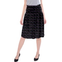 Smooth Color Pattern Midi Beach Skirt