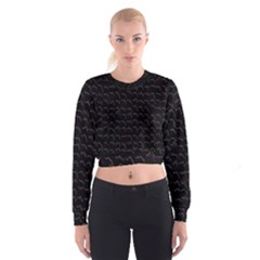 Smooth Color Pattern Women s Cropped Sweatshirt