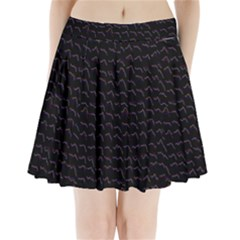 Smooth Color Pattern Pleated Mini Skirt