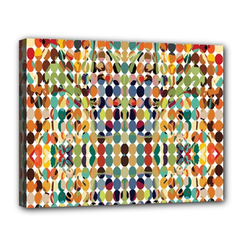 Retro Pattern Abstract Canvas 14  x 11