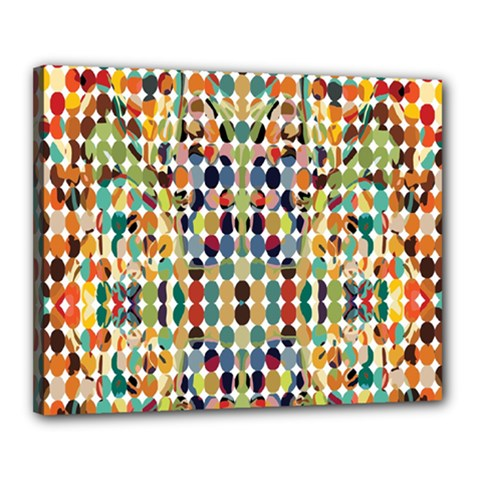 Retro Pattern Abstract Canvas 20  X 16