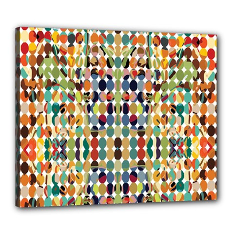 Retro Pattern Abstract Canvas 24  X 20