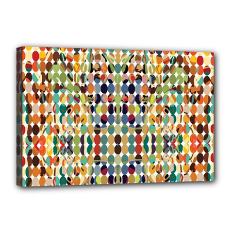 Retro Pattern Abstract Canvas 18  X 12