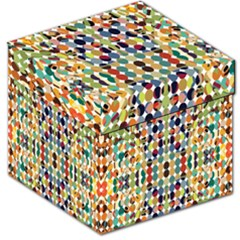 Retro Pattern Abstract Storage Stool 12