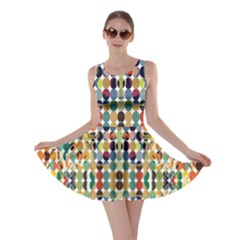 Retro Pattern Abstract Skater Dress