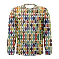 Retro Pattern Abstract Men s Long Sleeve Tee