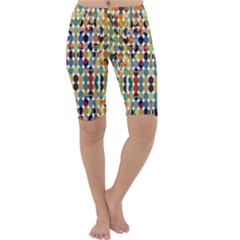 Retro Pattern Abstract Cropped Leggings