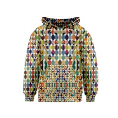 Retro Pattern Abstract Kids  Pullover Hoodie