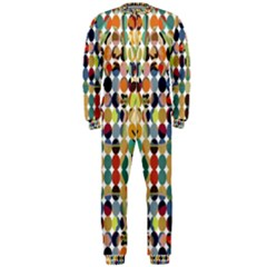 Retro Pattern Abstract Onepiece Jumpsuit (men)