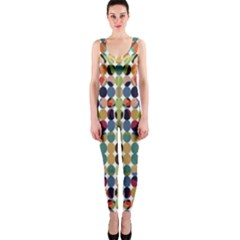 Retro Pattern Abstract OnePiece Catsuit