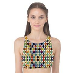 Retro Pattern Abstract Tank Bikini Top