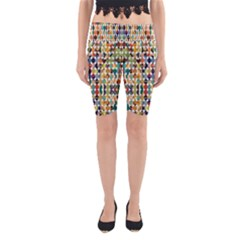 Retro Pattern Abstract Yoga Cropped Leggings