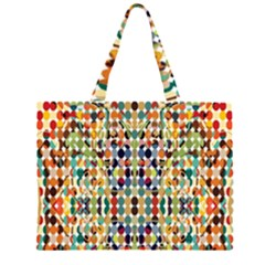 Retro Pattern Abstract Large Tote Bag